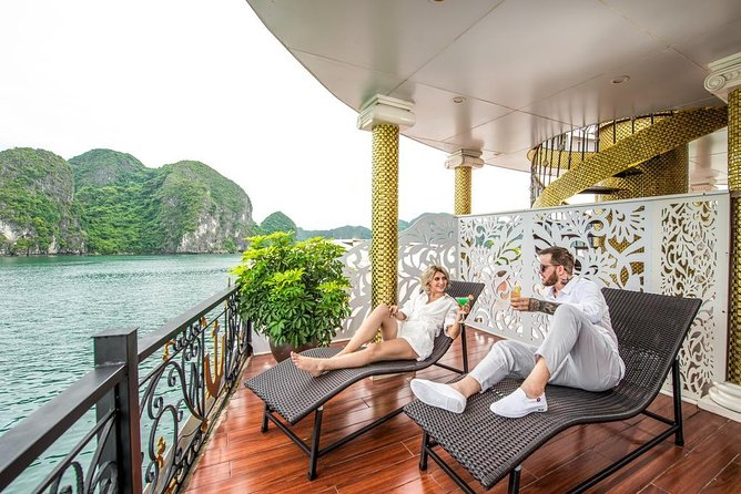 Luxury Modern Cruises Halong Bay Tour : Kayaking, Suprising Cave,Titop Island