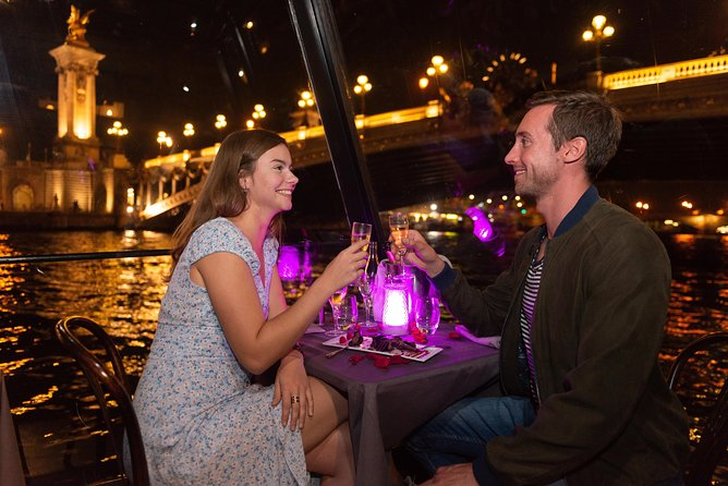 Seine River Dinner Cruise, Eiffel Tower Access & Visit with Moulin Rouge Show