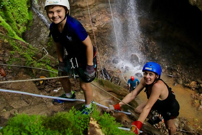 Ziplining and Waterfall Rappelling Combo