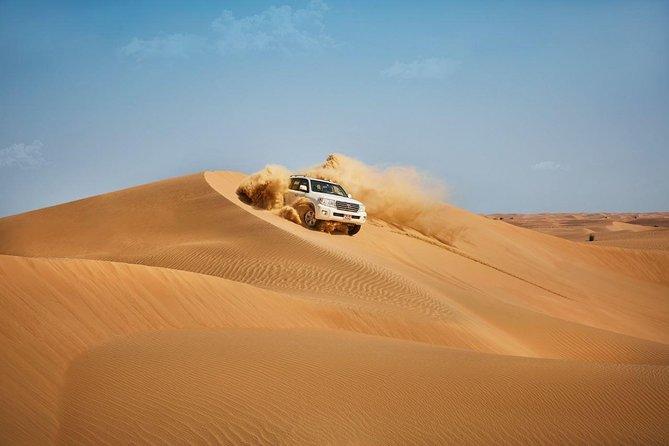 Private Abu Dhabi Desert Safari From Dubai with Hot BBQ Dinner