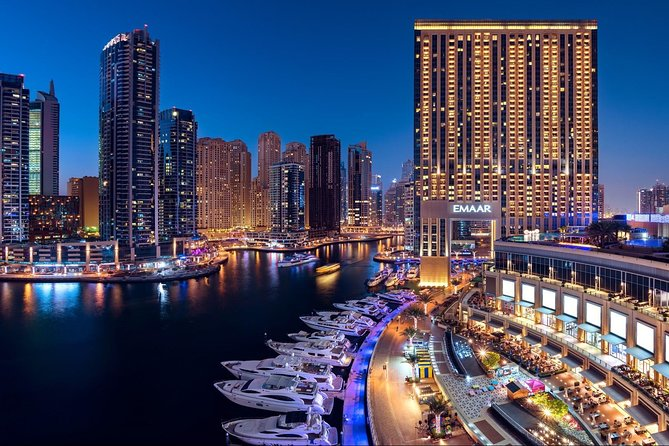 Dubai Marina Yacht Tour With Pickup & dropoff
