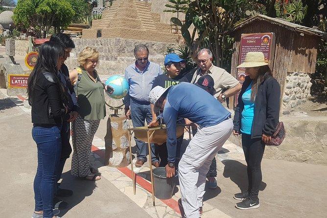 City tour and equator line
