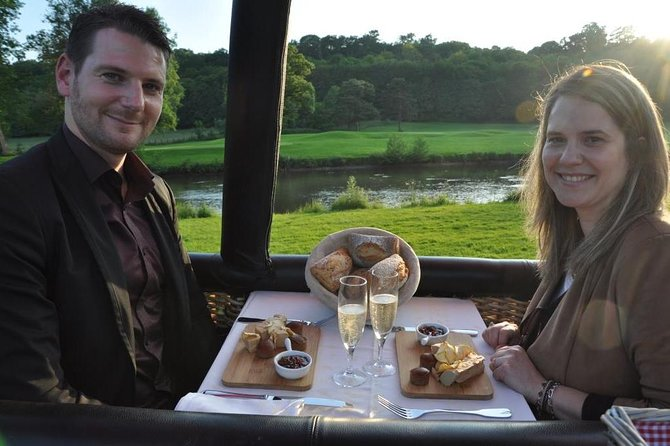 Dinner onboard hot air balloon