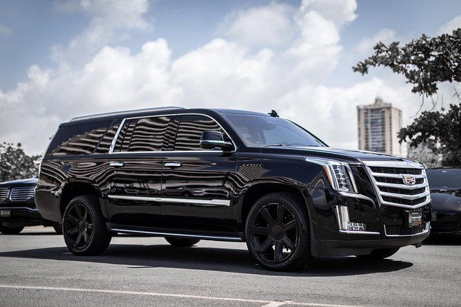 Oneway-to/from SJUAirport, Cruise Port, Hotels in SAN JUAN-Cadillac Escalade SUV
