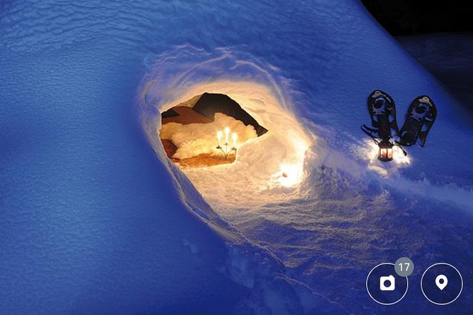 Snowshoeing and Wine Tasting in an Igloo