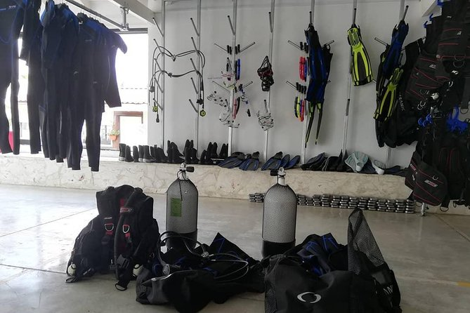Diving Package: mask, BCD, regulator, suit, fins, boots, weights