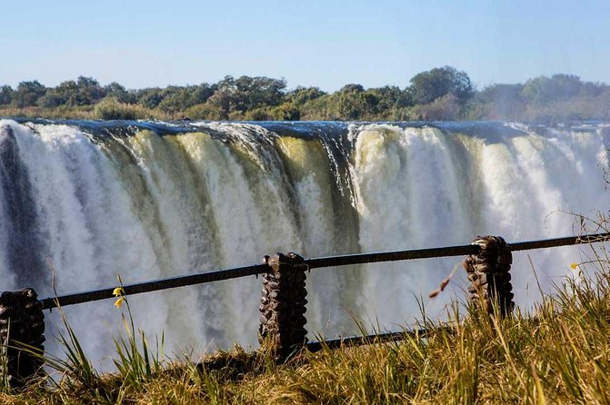 The falls in the mighty Zambezi River, one of the seven wonders of the world