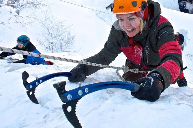 Guided Ice Climbing Activity in Pyhä