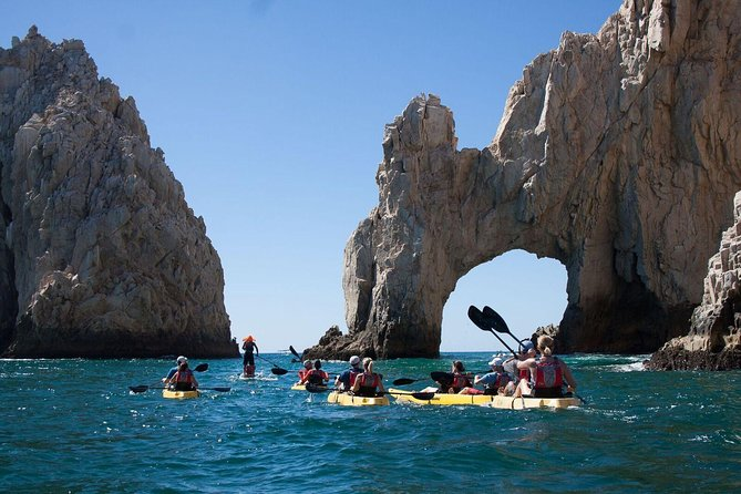 Private Los Cabos Arch & Playa del Amor tour by Glass bottom kayak