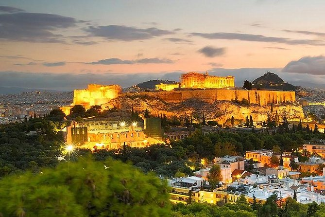 Sunset and Moonlight Private Night Tour of Athens