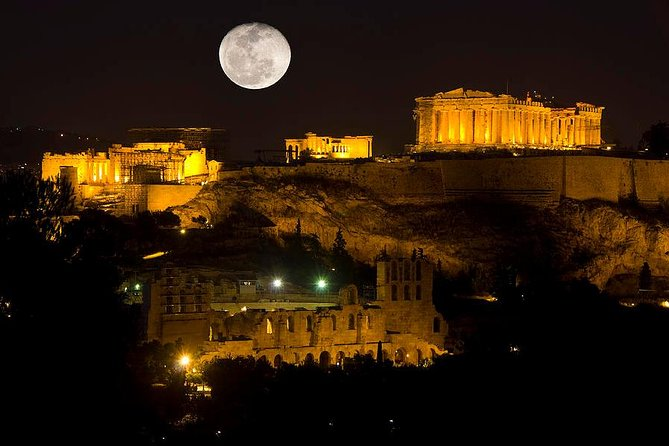 Athens By Night Driving Tour (Historical highlights) , and Dinner