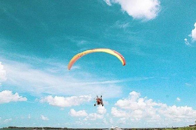 Bali Motor Paragliding Tandem Flight Over Sanur Coast with Transport