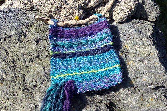 Weaving with ocean view