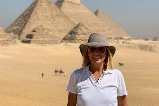 Private Day-Trip to Giza Pyramids Egyptian Museum & Khan el-Khalili Bazaar