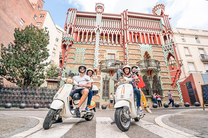 GAUDI ARCHITECTURE & MODERNISM by Vespa scooter