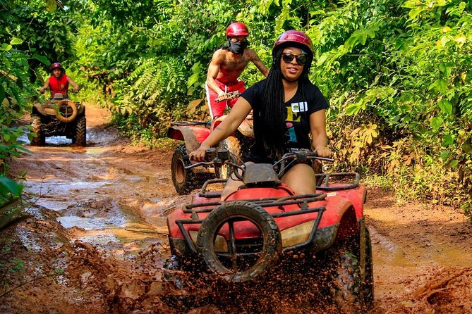 Adventure tour from Cancun Atvs (shared) ziplines & Cenote for the best price