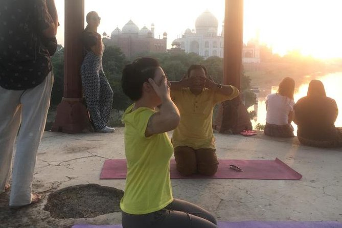 Secret Taj Mahal Sunrise or Sunset Tour with Yoga.