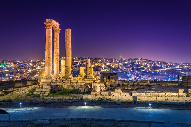 Private Amman City Sightseeing with Optional Arabic Mezze Lunch and Turkish Bath