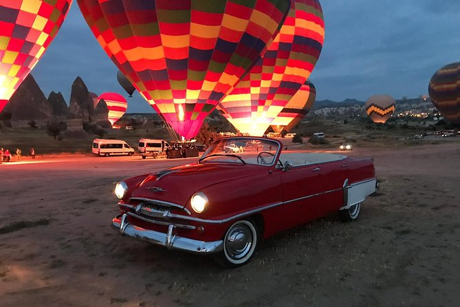 Classic Car Tour at the Sunset Time