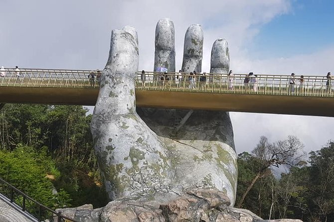 Private Guided Tour to GOLDEN BRIDGE BA NA HILLS from TIEN SA or CHAN MAY Port