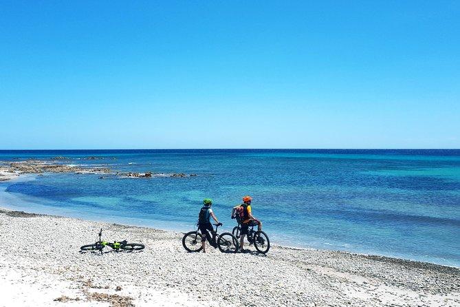 Easy ride to Biderosa, Berchida, & Capo Comino, with Electric Mountain Bikes