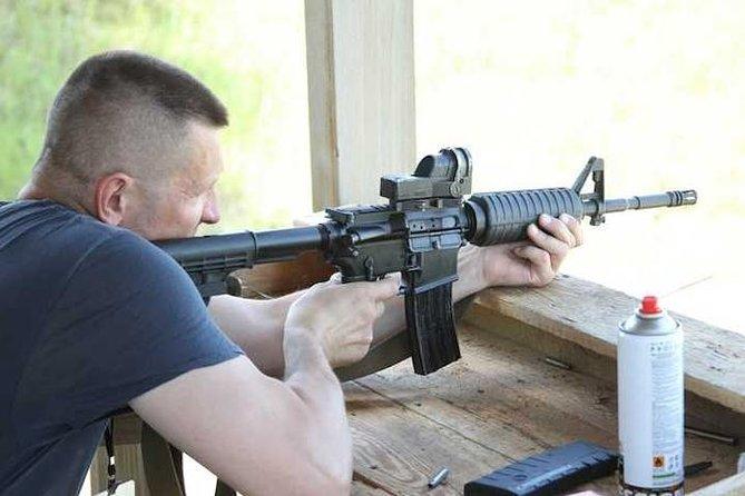 Outdoor gun shooting in Kiev