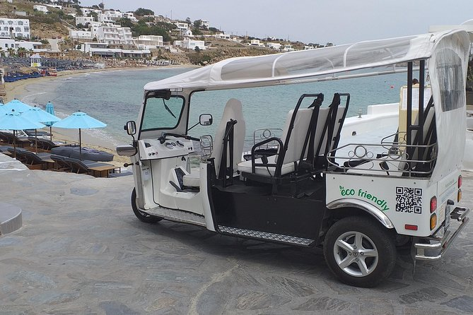 e-Tuk Mykonos Panorama & Brewery VIP Tour
