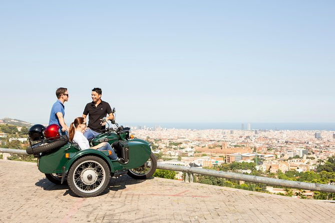 Sidecar Half-Day Tour of Barcelona 4:30h - PRIVATE
