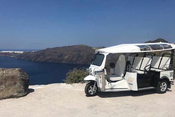 e-Tuk Santorini Fira VIP Panorama Tour & Kamari Beach