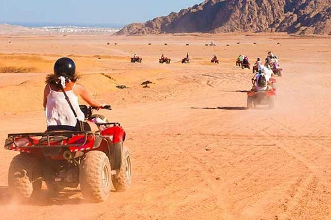 Desert Safari Trip by Quad Bike and dinner in hurghada