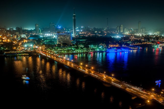 Cairo by Night Tour to EL Azhar Park- Nile Felluca -Khan el Khalili with Dinner