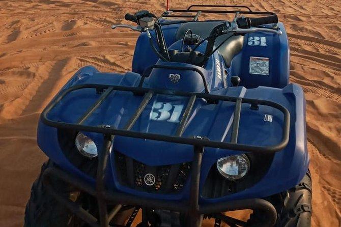 Morning Desert Safari with Quad Biking, Camel Riding, Sand Board All Inclusive