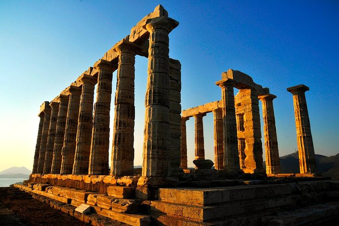 Cape Sounio, Poseidon Temple (5 hours). Day or Evening/ Sunset tour