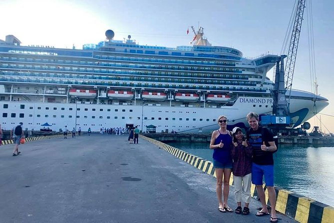 Cruiseship Trip from TIEN SA or CHAN MAY to Lady buddha, Marble Mountain, Hoi An