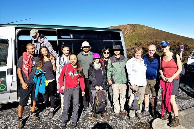 Tongariro Alpine Crossing shuttle, return transfer from Turangi.