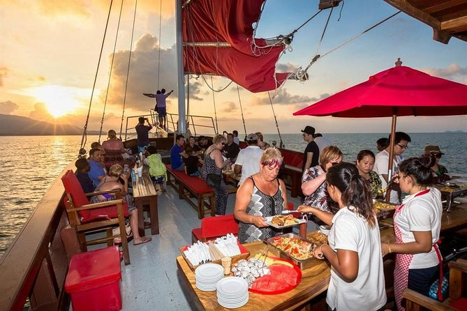 Koh Samui Red Baron Sunset Dinner Cruise with Return Transfer