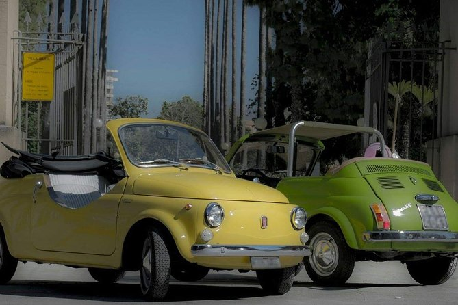 Experience in Fiat 500 Vintage with panoramic flight