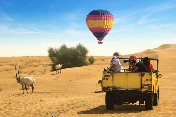 Hot Air Balloon Ride, Falconry, Breakfast & Wildlife Drive in a 1950s Land Rover