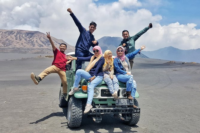Mount Bromo Jeep Car Rental departs from GUBUK KLAKAH