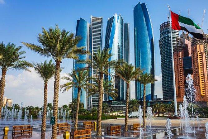 Emirates Palace Abu Dhabi view of Etihad Tower View