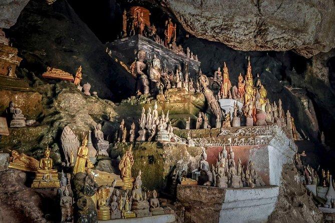 8 Hours ( 08:30 – 18:30 ) Pak Ou Caves & Kuangxi Waterfall