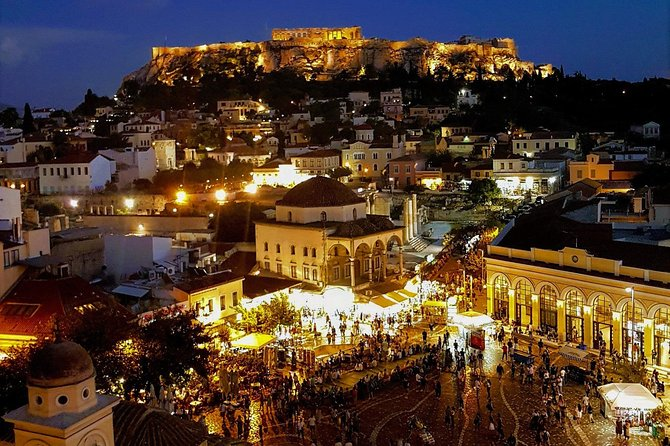 Private Sightseeing in Athens By Night