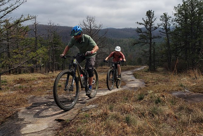 Guided rides on Dupont State Forest Slickrock, Big Rock Trail.