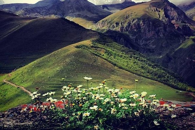 Explore the Caucasus Mountains on a one-day tour of the KAZBEGI region.