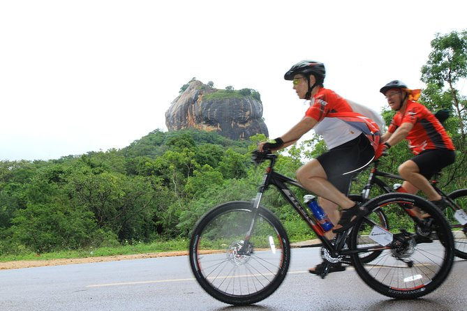 5th century rock fortress shadow cycling – Sigiriya