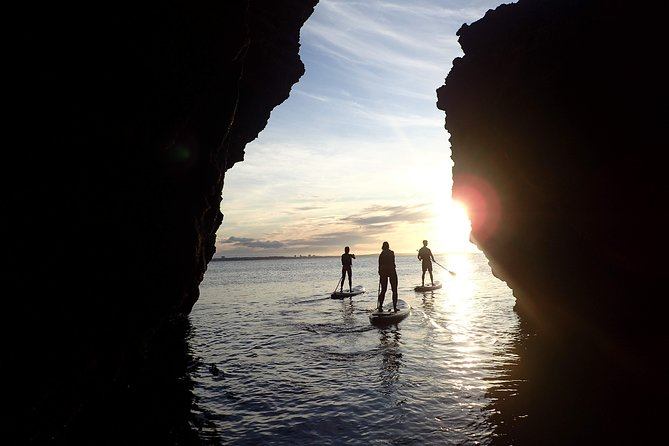 Stand Up Paddle Sunrise tour grottos in Lagos - pick up Aljezur area