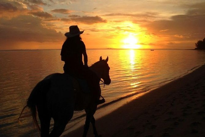 Sunset Beach Horse Riding in Mauritius :)