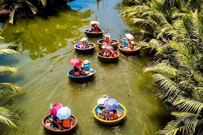 Basket boat tour, Hoi an by Night and food tasting from Da Nang