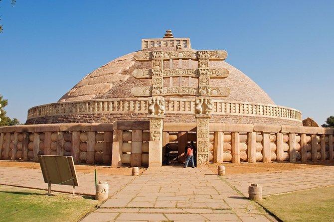 Explore Day Trip Of World Heritage Site Sanchi Stupa-buddhist & Bhimbetka Caves.