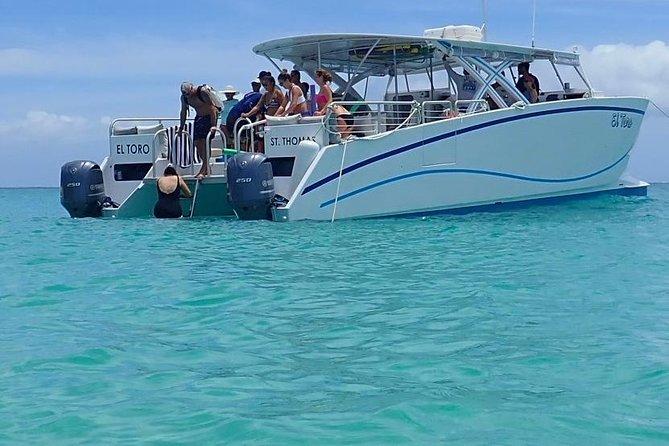 StThomas Boat Rental - ElToro 40' power boat charters for 24 passengers